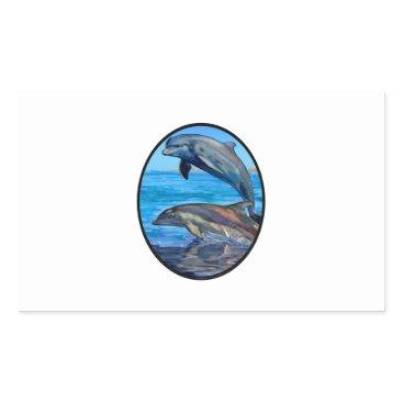 Hawaiian Themed Ocean Playmates Rectangular Sticker
