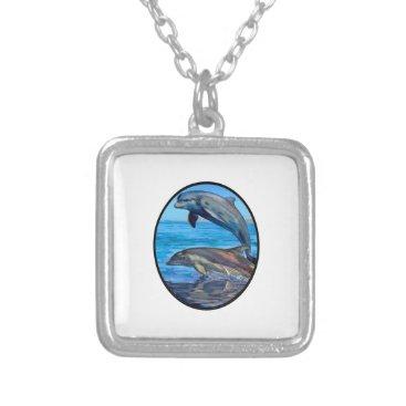 Hawaiian Themed Ocean Playmates Silver Plated Necklace