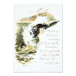 Ocean Poetry Card
