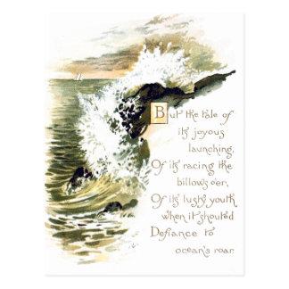 Ocean Poetry Postcard