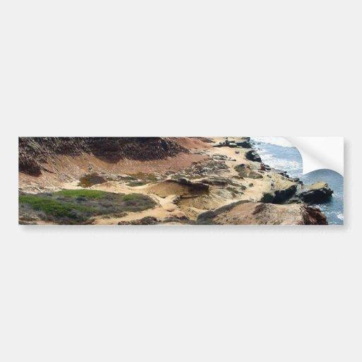 Ocean Point Loma Tide Pools Beach Water Sand Coast Bumper Sticker