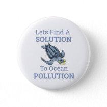 ocean pollution environmental message button