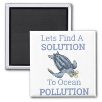 ocean pollution environmental message magnet