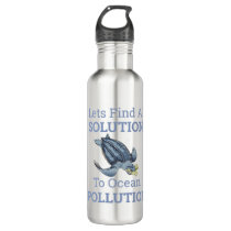 ocean pollution environmental message stainless steel water bottle