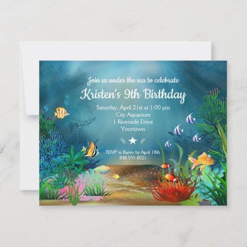 Ocean Reef Under the Sea Birthday Party Invitation