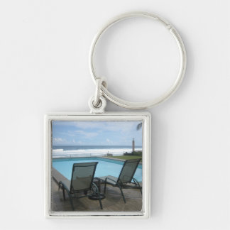 Ocean resource Silver-Colored square keychain