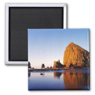 Ocean Rock Spires 2 Inch Square Magnet