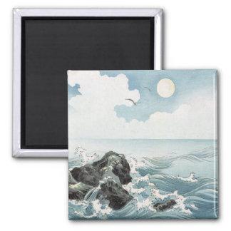 Ocean Rocks 2 Inch Square Magnet