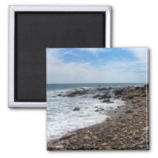 Ocean Rocks on Block Island 2 Inch Square Magnet