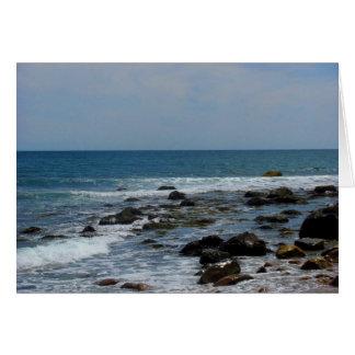 Ocean Rocks on Block Island Greeting Card