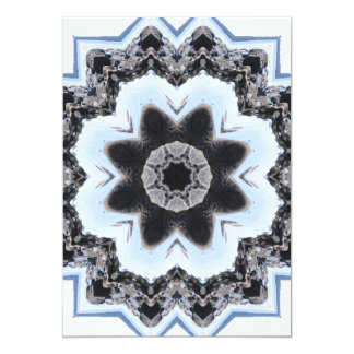 Ocean Rocks Photo Mandala Card