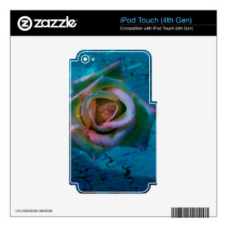 Ocean rose decal for iPod touch 4G