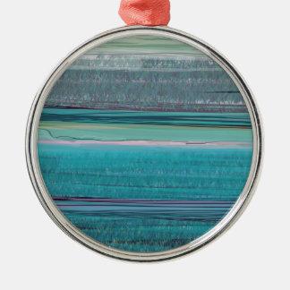 Ocean Round Metal Christmas Ornament