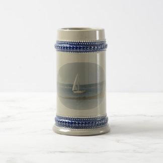 Ocean Sail Beer Stein Mug