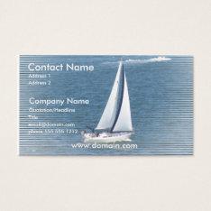 Ocean Sail Business Card at Zazzle