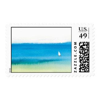 Ocean Sailing Postage Stamp
