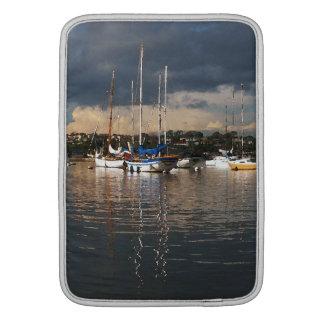 Ocean Sailing Sailboats Boats Harbor Sea Marina MacBook Sleeves
