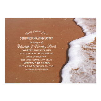 Ocean Sand And Waves Beach Themed Bridal Shower Card