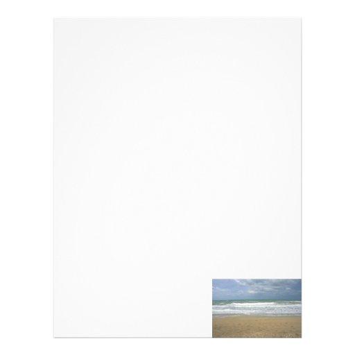 Ocean Sand Sky Faded background Letterhead Template