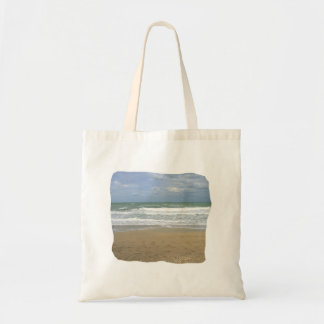 Ocean Sand Sky Faded background squared Bag
