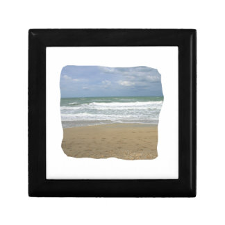Ocean Sand Sky Faded background squared Gift Box