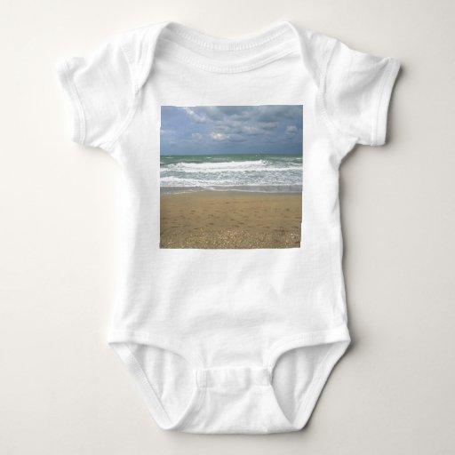 Ocean Sand Sky Faded background Tee Shirt