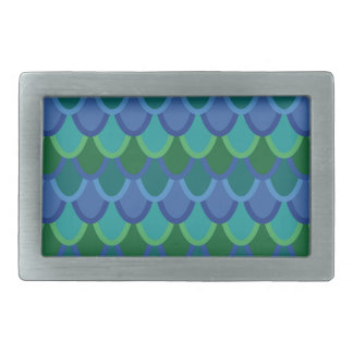 Ocean scales belt buckle