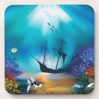 Ocean Scene One Beverage Coaster