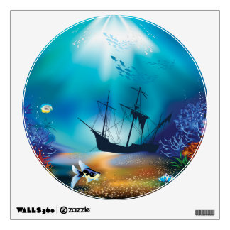 Ocean Scene One Wall Decals