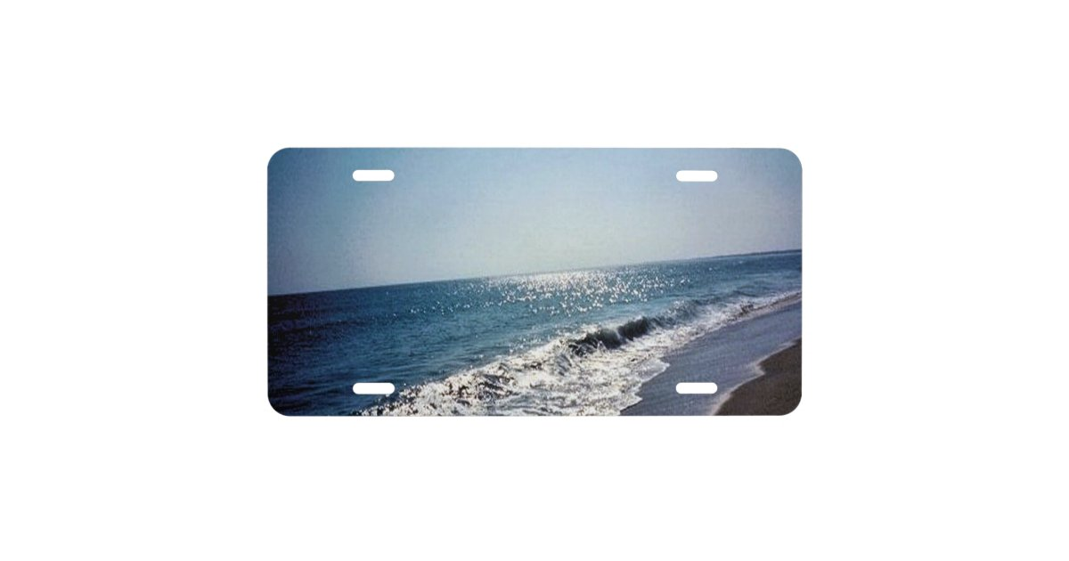 Ocean Scene Outer Banks License Plate Zazzle Com