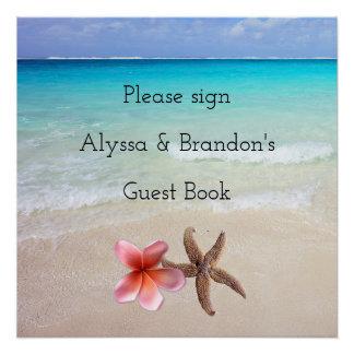 Ocean Scene Sign Wedding Guest Book Poster