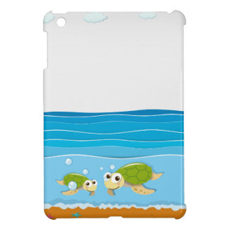 Ocean scene with lighthouse and animals cover for the iPad mini