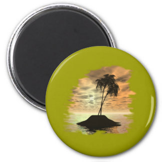 Ocean Scenes Collection 2 Inch Round Magnet