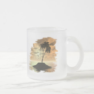Ocean Scenes Collection Frosted Glass Coffee Mug