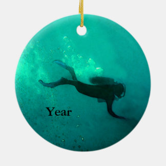 Ocean Scuba Diver Ceramic Ornament