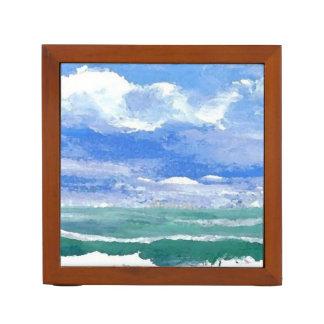 Ocean Sea Art Pencil Office Desk Gift 2 Desk Organizer