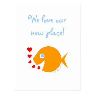 Ocean Sea Lake Water-Themed Humorous We Moved Postcard