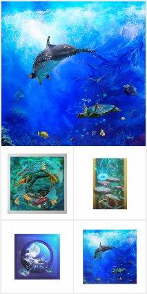 OCEAN SEA LIFE AND AQUATIC FISH