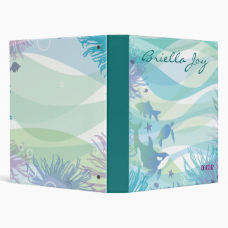 Ocean Sea Life Bat Mitzvah Invitation Binder