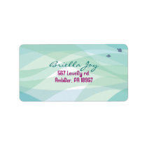 Ocean Sea Life Bat Mitzvah Invitation Label