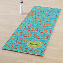 Ocean Sea Life Cute Fish Pattern Personalized Kids Yoga Mat