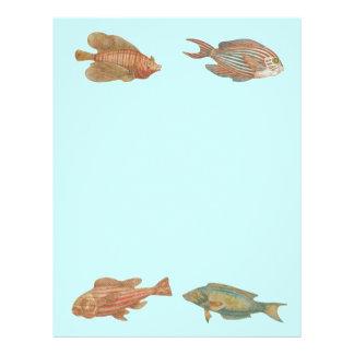 Ocean Sea Life Fish Nautical Scrapbook Paper