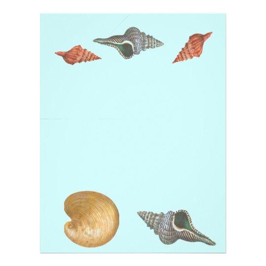 Ocean Sea Life Shells Nautical Scrapbook Paper