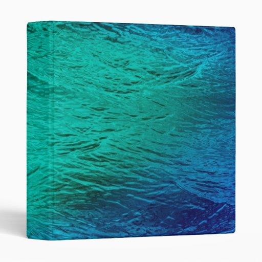 Ocean Sea Water Digital Art Binder
