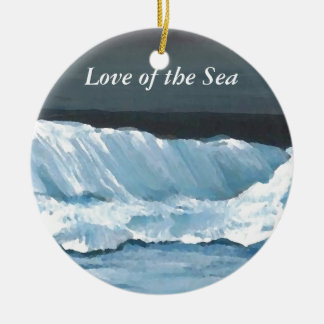 Ocean Sea Waves Ornament Gifts Beach Pretty