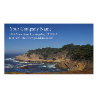 Ocean Sea Waves Rocky Coast Shore Shoreline Cliffs Business Card