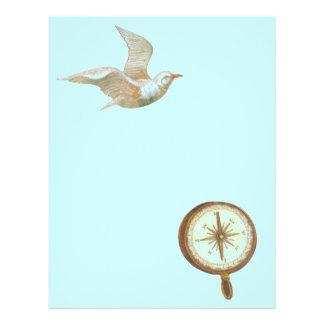 Ocean Seagull and Compass Nautical Scrapbook Paper