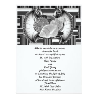 Ocean Seashell Breeze 6.5x8.75 Paper Invitation Card