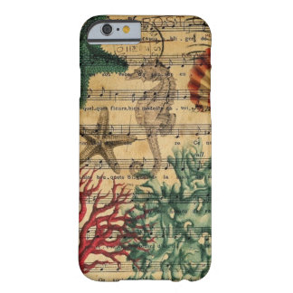 ocean seashells seahorse scripts beach fashion barely there iPhone 6 case