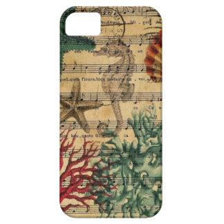 ocean seashells seahorse scripts beach fashion iPhone SE/5/5s case